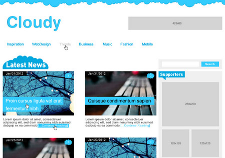 Cloudy Blog Layout