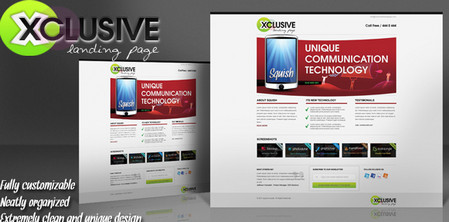 Xclusive Landing Page Psd Template