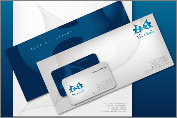 7BlueBells logo and products by workstation 55 Professional Corporate Branding Printable Design