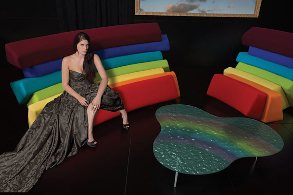 IRIS1 Colorful and Comfortable Upholstered Furniture Inspired by Rainbows: IRIS