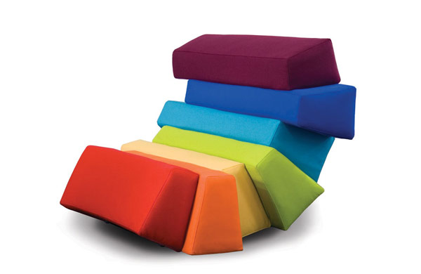 IRIS4 Colorful and Comfortable Upholstered Furniture Inspired by Rainbows: IRIS