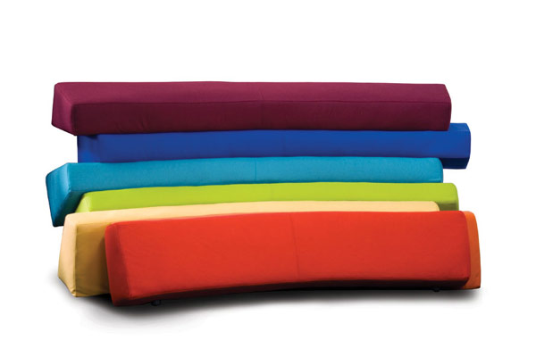 IRIS5 Colorful and Comfortable Upholstered Furniture Inspired by Rainbows: IRIS