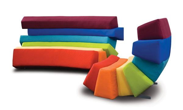 IRIS7 Colorful and Comfortable Upholstered Furniture Inspired by Rainbows: IRIS