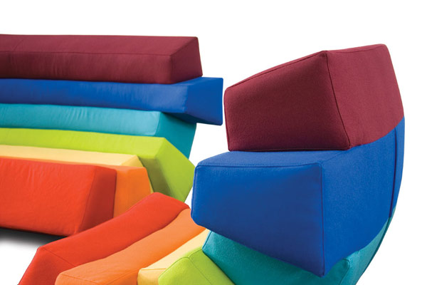 IRIS9 Colorful and Comfortable Upholstered Furniture Inspired by Rainbows: IRIS