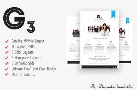 G3 - Minimal Corporate website template
