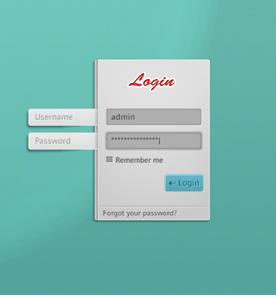 Free Psd for Login Form