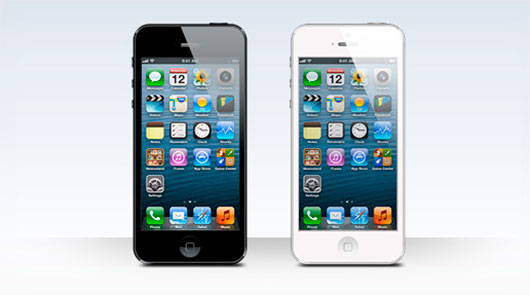 iPhone 5 black and white blank templates
