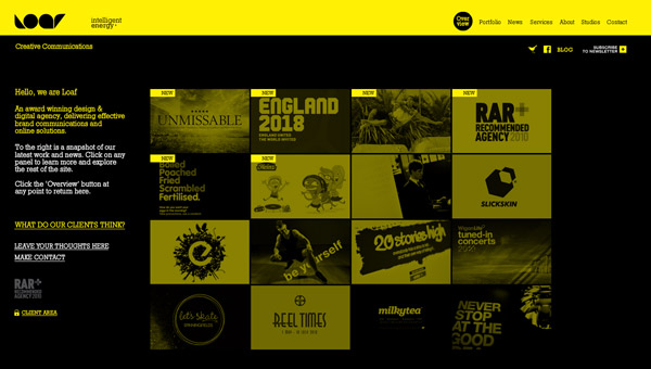 leaf Yellow Colored Website Designs for Inspiration