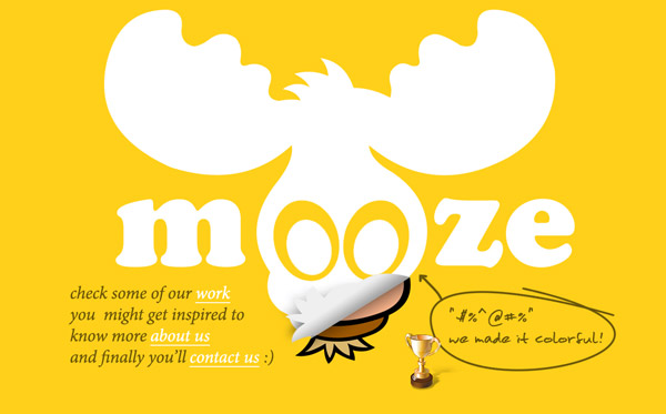 mooze Yellow Colored Website Designs for Inspiration