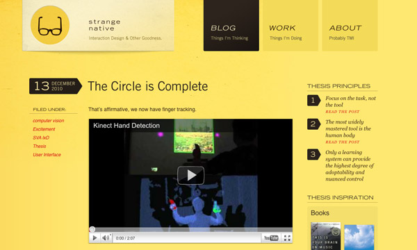 native Yellow Colored Website Designs for Inspiration