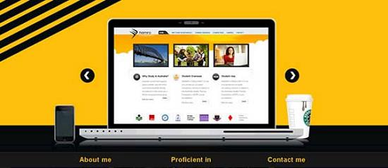 samirtuladhar Yellow Colored Website Designs for Inspiration