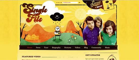 singlefilerock Yellow Colored Website Designs for Inspiration