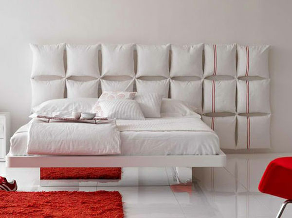 pillows headboard ideas 35 Cool Headboard Ideas To Improve Your Bedroom Design