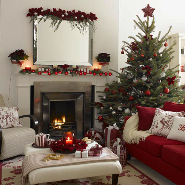 christmas fireplace decorating ideas 30 Christmas Decorating Ideas To Get Your Home Ready For The Holidays