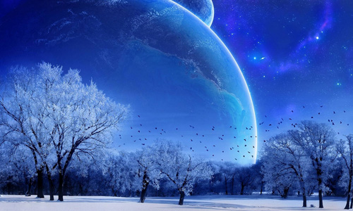 christmas wallpapers blue landscape Cool HD Christmas Wallpapers