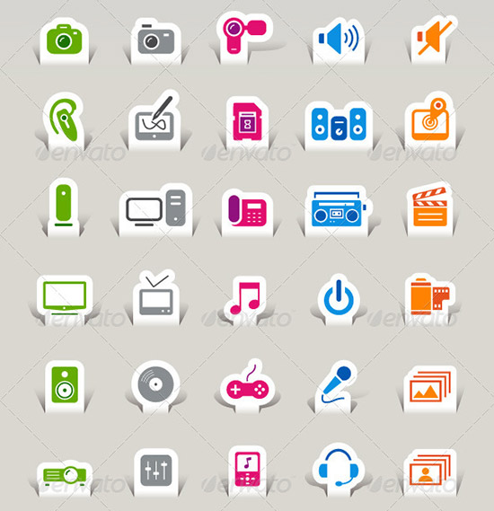 135 papercut 2 preview PSD Icon Set of Social Media and Applications