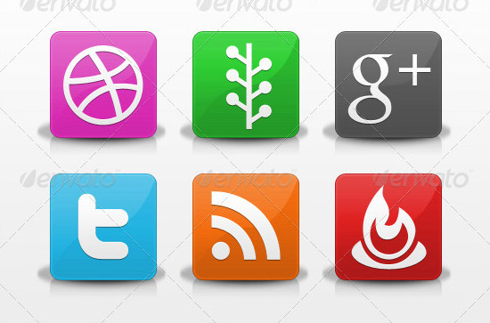 30 modern social icons PSD Icon Set of Social Media and Applications