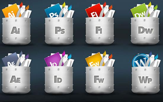 free psd icon1 PSD Icon Set of Social Media and Applications