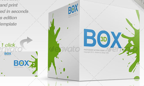 photoshop action 3D box Best Selling 3D Photoshop Actions, Style and Patterns