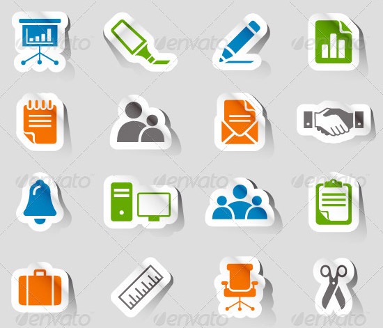 stickers bu03 image preview PSD Icon Set of Social Media and Applications