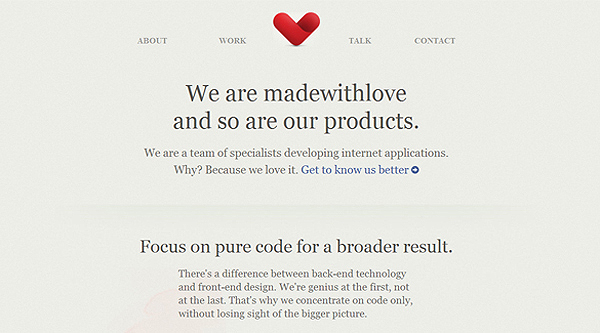 Made With Love web design