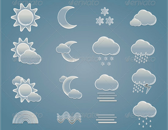 wheather vector icon set Preview PSD Icon Set of Social Media and Applications