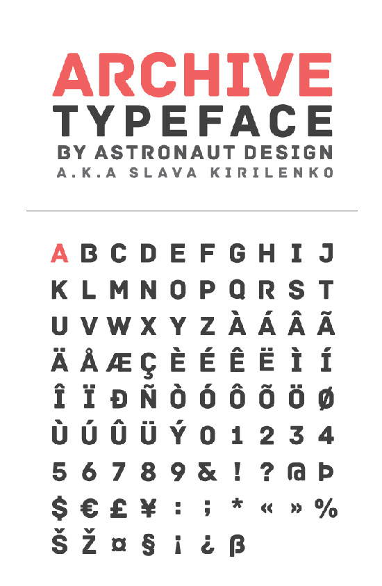 Archive Free Font