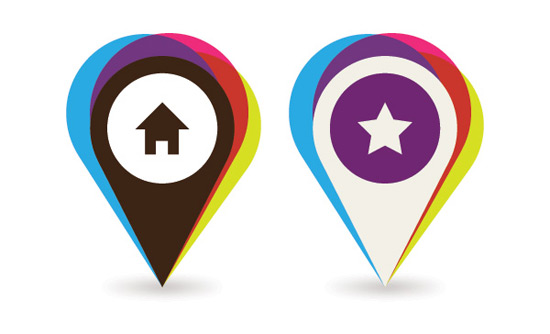 Mapping Places Vector Graphic
