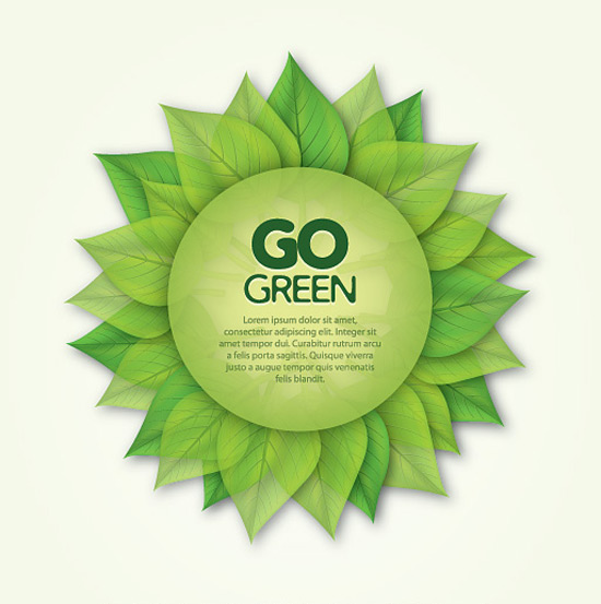 Go Green Poster Vector Graphic