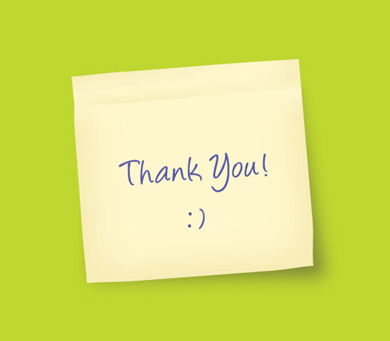 Thank You Note - Vector Graphic by DryIcons