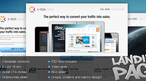 landing page x tech Nitty Gritty of Landing Page and Amazing Collection
