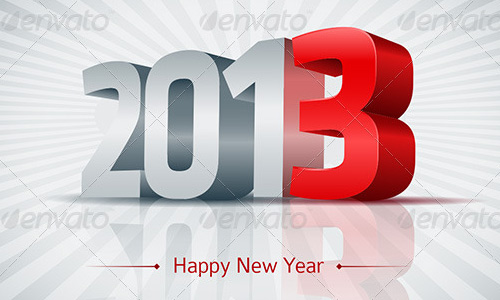 new year vectors 2013 3d Download New Year Vectors to Complete Your Tasks