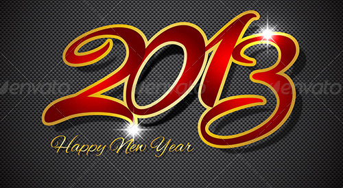 new year vectors 2013 bg Download New Year Vectors to Complete Your Tasks