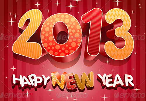 new year vectors 2013 style Download New Year Vectors to Complete Your Tasks