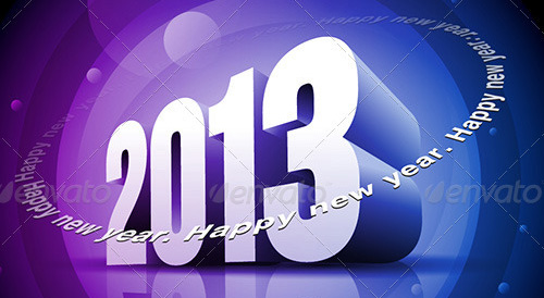new year vectors 3d 2013 Download New Year Vectors to Complete Your Tasks