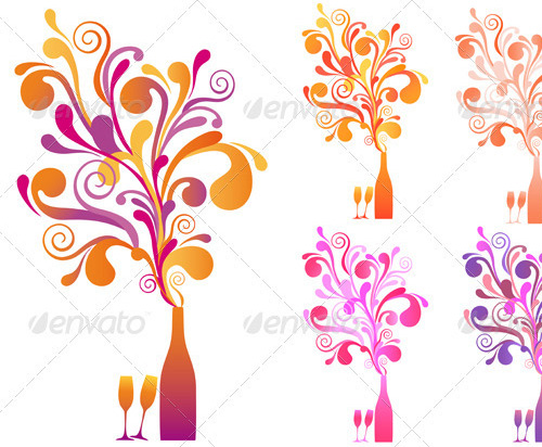 new year vectors champagne bottle Download New Year Vectors to Complete Your Tasks