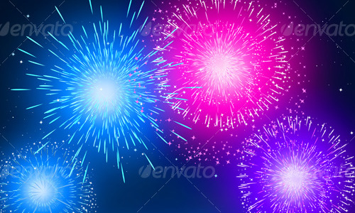 new year vectors fireworks Download New Year Vectors to Complete Your Tasks