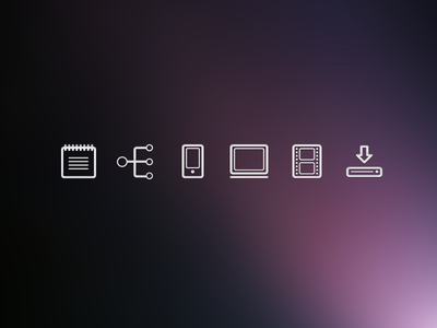 crystal clear user experience icons design