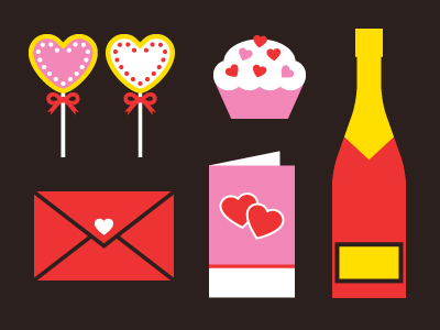 freebie vector icons design eps hearts