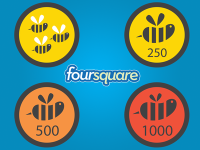 free downloads foursquare badges freebies eps