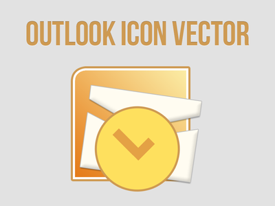 Microsoft Office 2010 Outlook icon vector