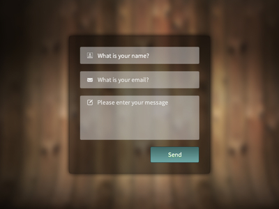 freebie psd/html/css contact form web design download