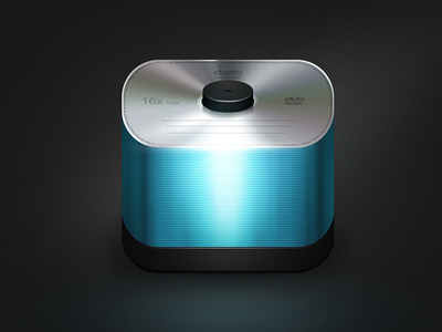 ios app icon freebie psd graphics dvd spindle