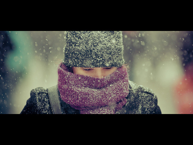 In the cold I'm standing