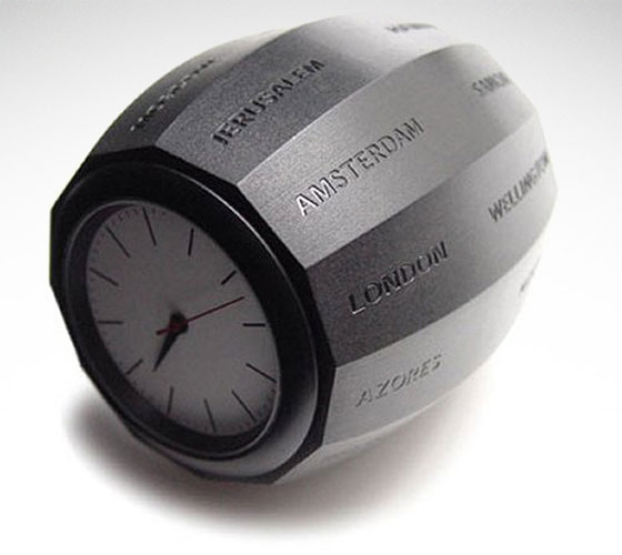World Time Clock Barrel