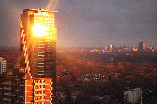 Toronto's Dales of Tales. Reflecting First Sun Rays of 2012