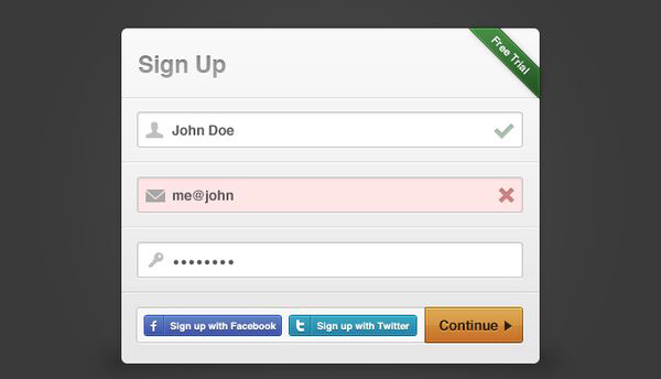 Sign-up with social media Modal Box