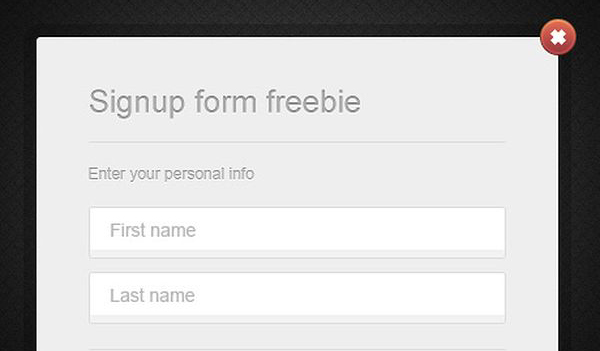 Simple sign up form Freebie