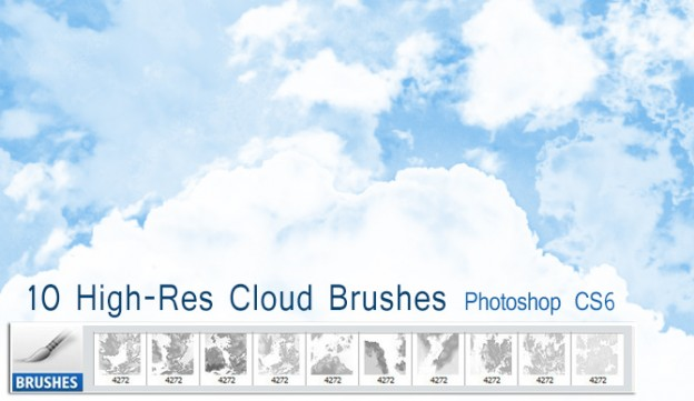10 free high res cloud brushes by designerfied d5kug3i e1362657750698 30+ Free Photoshop Cloud Brushes