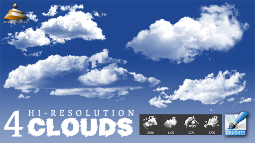 4 hi res clouds brushes by hjr designs d5ri3gt 30+ Free Photoshop Cloud Brushes